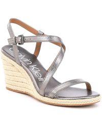 Calvin Klein - Bellemine Espadrille Wedge Sandals - Lyst