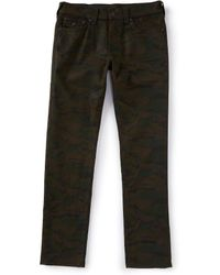 True Religion - Geno Slim Straight Camo Jeans - Lyst