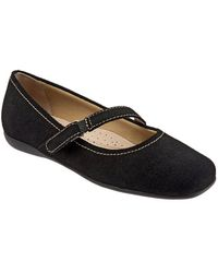 Trotters - Simmy Suede Mary Jane Flats - Lyst