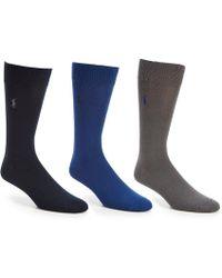 Polo Ralph Lauren - Super Soft Dress Socks 3-pack - Lyst