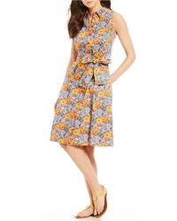 Antonio Melani | Vera Floral Print Tie Front Bow Dress Made With Liberty Fabrics | Lyst
