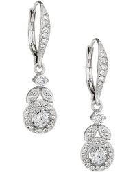 Nadri | Crystal Vine Drop Earrings | Lyst