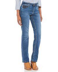 Jones New York - Lexington Dreamer Wash Straight-leg Coolmax All Season Technology Denim Jeans - Lyst