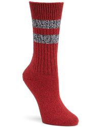 Frye - Striped Crew Socks - Lyst