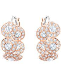 Swarovski - Rose Gold Angelic Hoop Earrings - Lyst