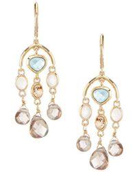 Anne Klein - Stone Chandelier Earrings - Lyst