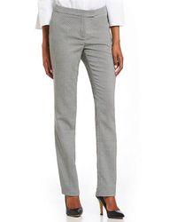 Jones New York   Sydney Geometric Tweed Print Straight-leg Pants   Lyst