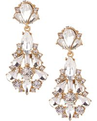 Belle By Badgley Mischka - Jonette Chandelier Statement Earrings - Lyst