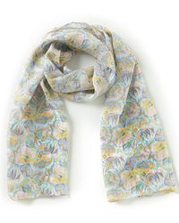 Antonio Melani - Paisley Corals Over Sized Silk Oblong Scarf - Lyst
