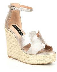 0f246fab766b Steve Madden - Steven By Sirena Leather Espadrille Wedge Sandals - Lyst