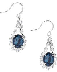 Cezanne - Oval Rhinestone Drop Statement Earrings - Lyst