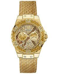 Guess - Goldotne Python Print Watch - Lyst