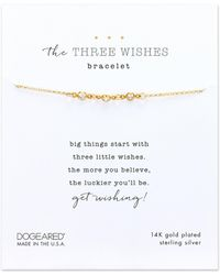 Dogeared - Three Wishes Bracelet - Lyst