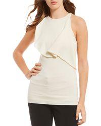Antonio Melani - Luxury Collection Cashmere Sleeveless Ruffle Popover Emabella Sweater - Lyst