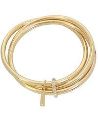 Kenneth Cole - Goldtone Trinity Bangle Bracelet - Lyst
