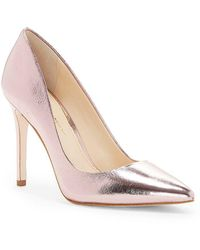 Jessica Simpson - Praylee Metallic Leather Pointy Toe Pumps - Lyst