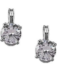 Anne Klein - Sparkling Ears Cubic Zirconia Stud Clip-on Earrings - Lyst
