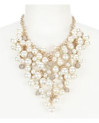 Belle By Badgley Mischka - Shaky Drop Statement Necklace - Lyst
