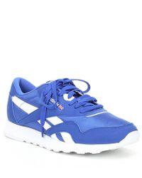 77f7d6f60d08 Lyst - Reebok Women s Classic Nylon Sneaker in Blue