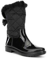 Kate Spade - Reid Faux Fur Quilted Water Resistant Rainboots - Lyst