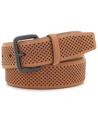 Cole Haan - Perforated Feather Edge Belt - Lyst
