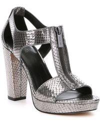 MICHAEL Michael Kors - Metallic Berkley Sandals - Lyst