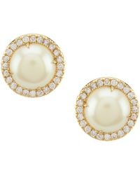 Kate Spade - Bright Ideas Pave Halo Stud Earrings - Lyst
