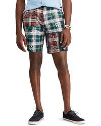 c19285961 Denim   Supply Ralph Lauren Patchwork Chino Shorts in Green for Men ...
