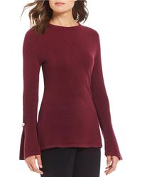 Antonio Melani - Luxury Collection Madilyn Cashmere Pearl Embellished Bell Sleeve Sweater - Lyst