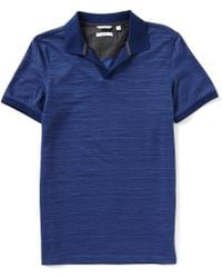 CALVIN KLEIN 205W39NYC - Slim-fit Space Dye Color Block Short-sleeve Polo Shirt - Lyst