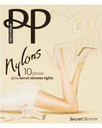 Pretty Polly - Gloss Secret Slimmer Reinforced Toe Tights - Lyst