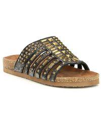 571f4aef6cd279 Naughty Monkey - Keller Multi Shaped Metal Studs Sandals - Lyst
