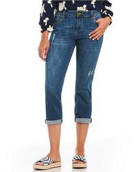 Kut From The Kloth - Maggie Skinny Crop Boyfriend Jeans - Lyst