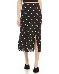 ec71634355fed7 Free People Retro Love Midi Skirt in Black - Lyst