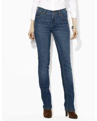 Lauren by Ralph Lauren - Lauren Jeans Co. Super Stretch Slimming Classic Straight Jeans - Lyst