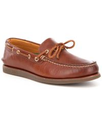 Sperry Top-Sider | Men ́s Gold Authentic Original 1-eye Wedge Boat Shoe | Lyst