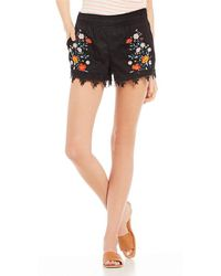 Jolt - Embroidered Smocked Shorts - Lyst
