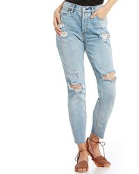 Lacey Stilt Rip Knee Skinny Jeans - Lt denim Free People hlPXn