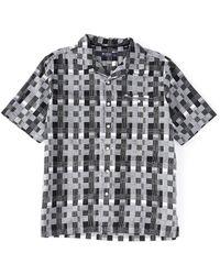 Cremieux - Jacquard Check Short-sleeve Woven Camp Shirt - Lyst
