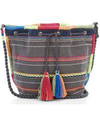 Star Mela - Chindi Striped Bucket Bag - Lyst