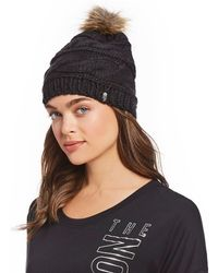 The North Face - Ladies' Triple Cable Beanie With Faux-fur Pom - Lyst