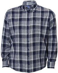 North 56'4 - Big & Tall Plaid Long-sleeve Woven Shirt - Lyst