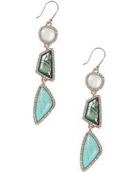 Lucky Brand - Turquoise Drop Earrings - Lyst