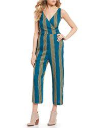 June & Hudson - Stripe Jumpsuit - Lyst