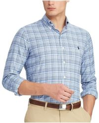 8b8bdff2 Polo Ralph Lauren Slim-fit Striped Poplin Shirt in Blue for Men - Lyst
