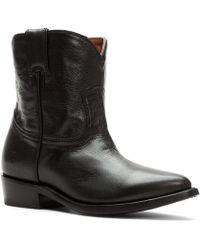 Frye - Billie Short Leather Western Booties - Lyst