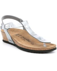 47ad4d33026 Birkenstock - Papillio By Ashley Metallic Ankle Strap Thong Sandals - Lyst