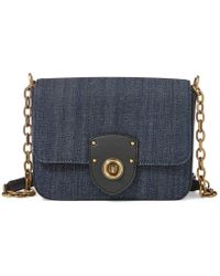 Lauren by Ralph Lauren - Millbrook Denim Chain Cross-body Bag - Lyst