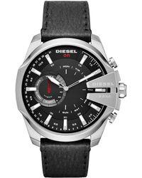 DIESEL - On Mega Chief Leather-strap Hybrid Smartwatch - Lyst