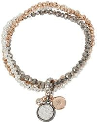 Kenneth Cole | Tri-tone Stretch Bracelet With Charms | Lyst